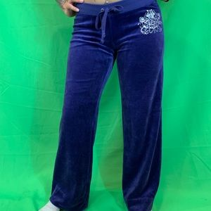 JUICY COUTURE Purple Velour Track Pants/Sweatpant